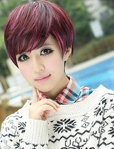 Beauty Fashion Wigs Fashionable Sweet Charming Short Stright Side Bang Hair Wig (Harley Quinn Costume Commission)