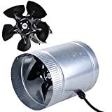 6'' Inline Duct Fan CFM Booster Exhaust Blower Aluminum Blade Air Cooling Vent + FREE E-Book