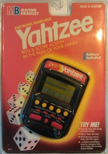 Milton Bradley Electronic Handheld Game - Yahtzee Handheld Electronic Game (1995) by Yahtzee