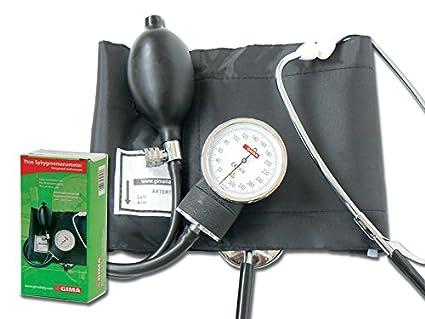 Gima 32703 YTON - Esfigmomanómetros aneroides con fonendo integrado, color negro: Amazon.es: Industria, empresas y ciencia