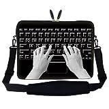 Meffort Inc 17 17.3 inch Neoprene Laptop Sleeve Bag Carrying Case with Hidden Handle and Adjustable Shoulder Strap – Keyboard Design, Bags Central