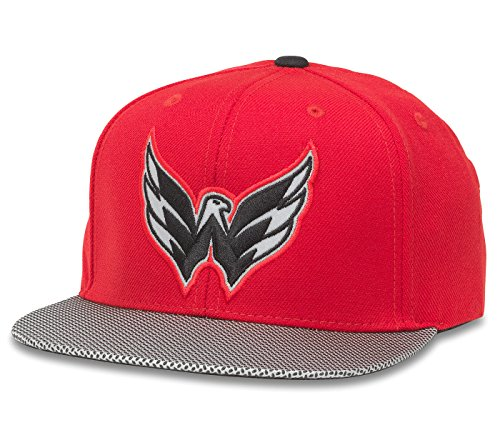 (American Needle Washington Capitals Chromel Reflective Visor Adjustable Snapback Hat)