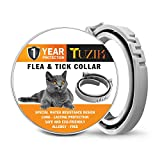 TUZIK Flea and Tick Treatment for Cats - Flea and Tick Prevention for Cats - 12 Months Flea Protection for Cats - Waterproof, Adjustable, Hypoallergenic with Natural Essential Oils [Upgrade Version]