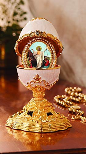 Alex-Intl Deluxe Egg with Surprise Framed Resurrection of Christ Icon 5 1/2 Inch ()