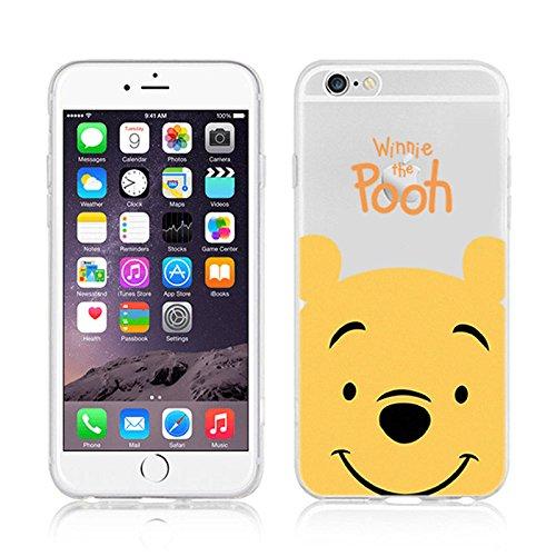 Disney Winnie Mickey Daisy & Donald Duck Clear TPU Soft Case For Apple iPhone7 Plus WINNIE THE POOH