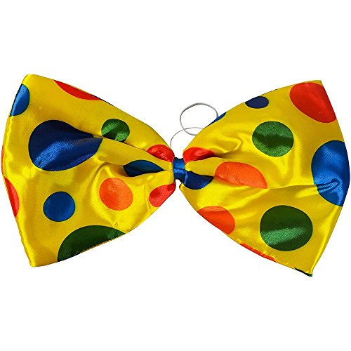 Clown Jumbo Bow Tie Accessory for Circus Fancy Dress Tie]()