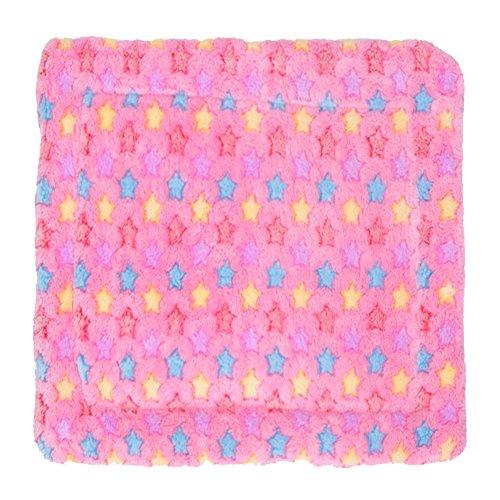 - Awakingdemi Thick Warm Fleece Soft Pet Blanket Dog Puppy Sleep Beds Mat Pet Cat Cushion (M(5050CM), Pink)