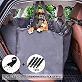 Cheap Dog Seat Cover for Back Seat, Large Convertible Car Seat Cover Hammock for Pet Dogs Waterproof Seat Protector with Side Flaps for Cars Trucks and SUVs