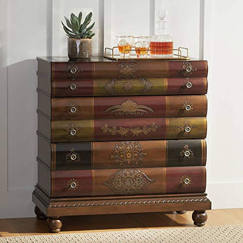 """Crestview 32"""" Wide Library Book 3-Drawer Storage Chest from Crestview Collection"""