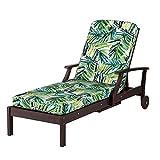 DermaPAD Outdoor Patio Chaise Cushion- Box Edge 72″x21″x3-1/2 (Caribbean Palm Print) Review