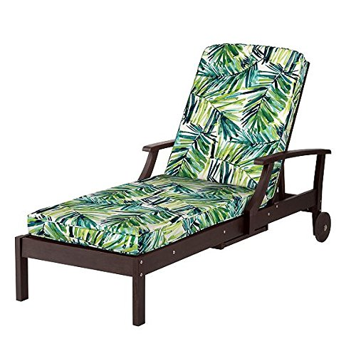 DermaPAD Outdoor Patio Chaise Cushion- Box Edge 72″x21″x3-1/2 (Caribbean Palm Print) Review