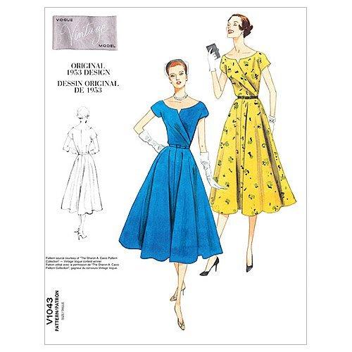 Vogue Vintage Cap (Vogue Patterns V1043 Misses' Dress and Belt, Size AA (6-8-10-12) by Vogue Patterns)