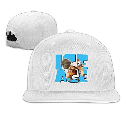 ^GinaR^ Unisex Ice Age Collision Course Exquisite Hip-hop Baseball Cap Sun Hat Sports Caps - White