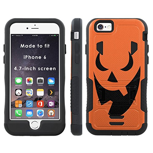 Pumpkin Face - Mobiflare iPhone 6 iPhone 6S (4.7 inch Screen) Flak Jacket Dual Armor with (Apple Carving Halloween)