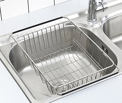 Adjustable Dish Drying Rack Over Sink, SZUAH 18/8 Stainless