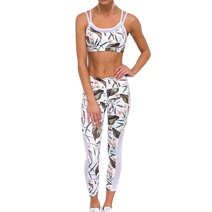 Mujer Ropa de Deporte Tracksuit 2 Pieza Deporte Ropa Activo Yoga ...