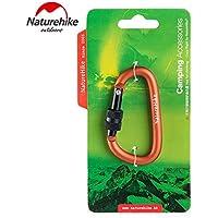 Naturehike NH15A005-H Naturehike Kilitli D Shape Mini Karabina, Turuncu Unisex, Turuncu, Tek Beden