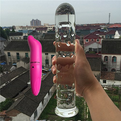 2 Pcs/Lot Vibrator and Pyrex Glass Crystal Dildo Penis Anal Butt Plug Sex Toy Adult Products for Women Men Male Masturbation