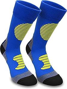 2 Paar Multifunktionale Sportsocken mit Schienbein- & Fußrückenpolster Farbe...