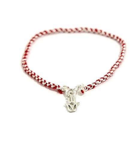 Bracelet mauvais  oelig il rouge, bijoux corde de kabbale en argent  sterling ... 1531bb42421d
