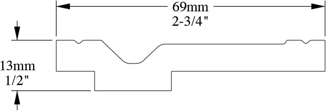 Corniche Moulure Cimaise D/écoration de stuc Orac Decor CX161 AXXENT Profil d/écoratif du mur 2 m