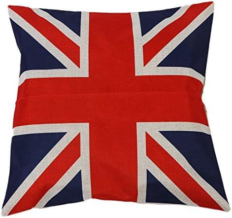 Cikuso Funda De Almohada De Estilo Britanico De Estilo Union Jack con Dibujo De Bandera, Funda De Almohada: Amazon.es: Hogar