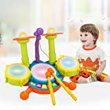 Kids-Drum-Set-Beats-Flash-Light-Toy-With-Adjustable-Microphone