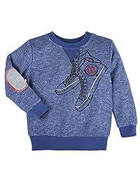 Andy & Evan Kids Boys Blue Sneaker Sweatshirt