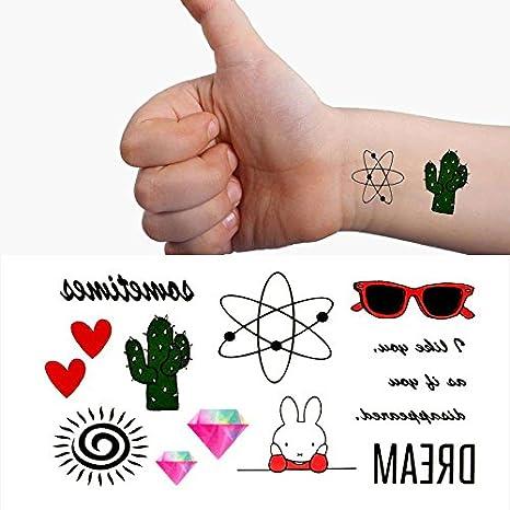 Oottati Pequeño Lindo Tatuaje Temporal Sunglass Conejo Corazón ...
