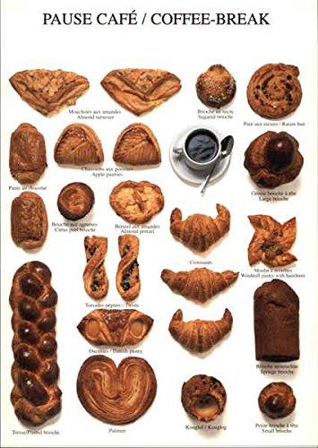 Pack Variety Pastries (Coffee Break - Variety of Pastries Photographic Art Original Vintage Postcard)