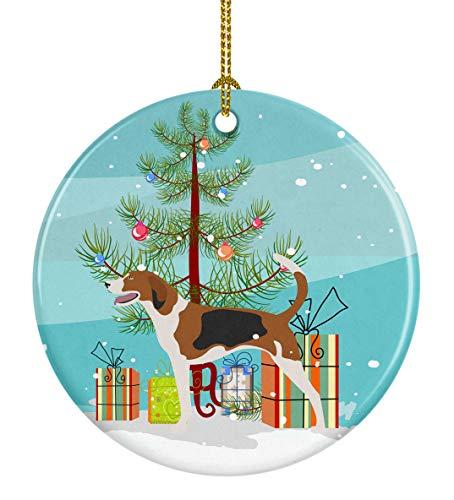 American Foxhound Christmas Ornament - Caroline's Treasures American Foxhound Christmas Ceramic Ornament