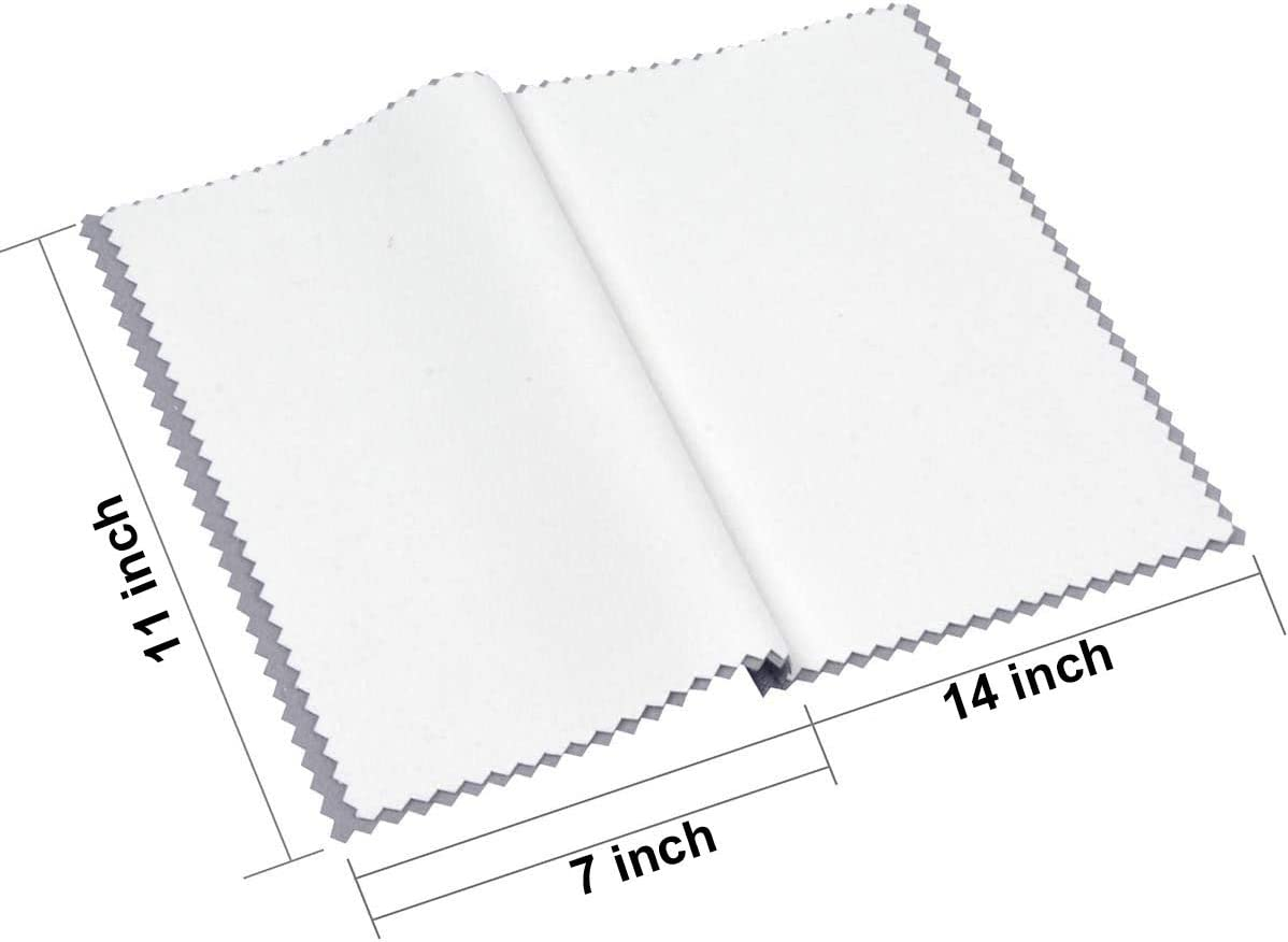 Mothland 3 Pack 100/% Cotton Polishing Cloth Large 11 X 14 Jewelry Cleaning Cloths for Gold Silver Platinum Jewelry Coins Watches and Silverware