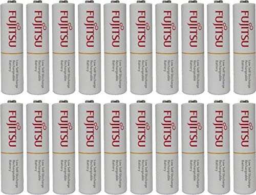 Fujitsu AAA Ready-to-use 2,100 times Rechargeable NiMH 1.2V 800mAh (Min. 750mAh) Made in Japan 20 batteries