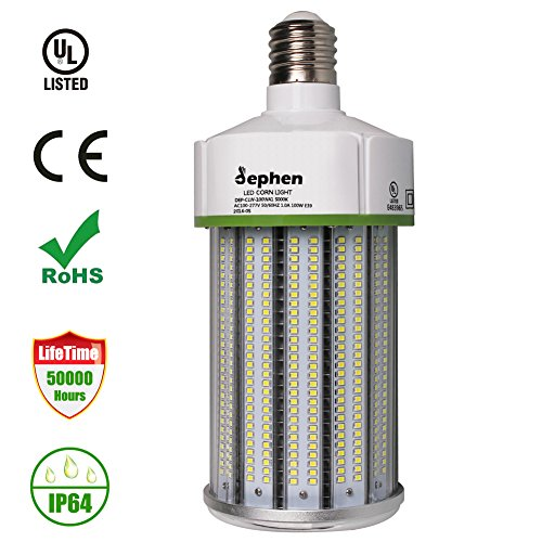 Dephen LED Corn Light Bulbs 100Watt 13500lumen (700W Equivalent) Large Mogul Screw E39 Base Daylight 5000K LED Retrofit Lamp,360 Degree Flood Light, Replacement for Metal Halide Bulb, HID, CFL, HPS by dephen
