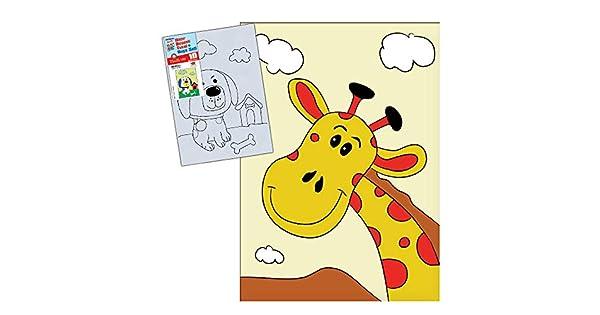 Artdeco Kids Desenli Tuval Boyama Seti 25x35cm Neseli Zurafa