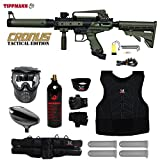 MAddog Tippmann Cronus Tactical Starter Protective CO2 Paintball Gun Package - Black/Olive