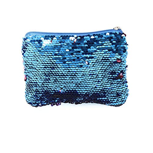 Blue Reversible Handbag Evening Sequins Wallet amp;pink Purse Women Clutch Glitter Bag Mermaid HwvdSS4