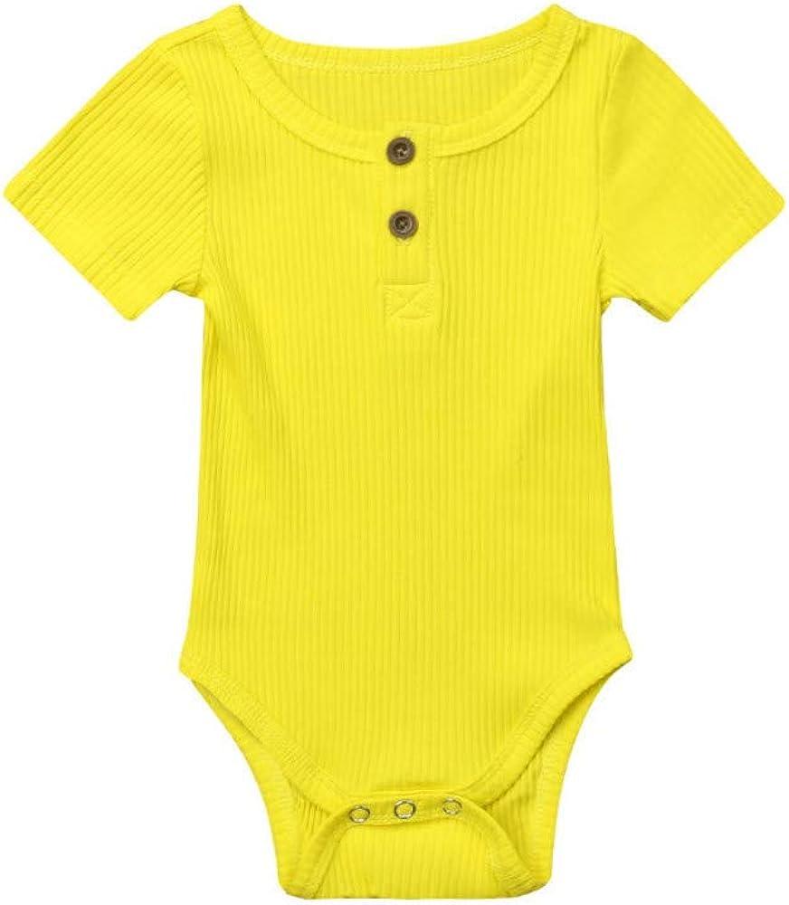 REALIKE Kinder Baby M/ädchen Kurzarm-Body im Elegant R/üschen Achselbody im Jumpsuit M/ädchen Kleine Schwester Wei/ß Kleidung Overall Outfits Tops T Shirts