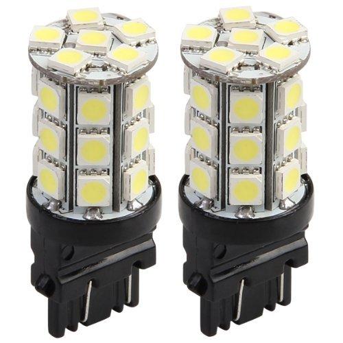 TOOGOO(R) 2 pezzi T20 / 3157 27 5050 SMD LED auto luce della lampada luce freno posteriore luce bianca automatisch 018967