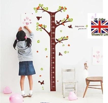 soñar con árboles de crecimiento tabla de los niños etiqueta de la pared