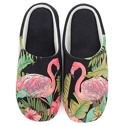 ALOTUS Soft Cute Black Flamingos Indoor Colorful Animal Light with Slippers Unisex Colorful amp; rgqBrEC