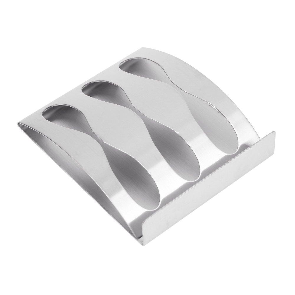 3 Buco dispenser supporto per toothbrush scaffale per dentifricio,rasoio rasoio rasoio Porta spazzolini scaffali in acciaio inox Accessori per la casa e il bagno