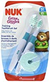 NUK Grins and Giggles Training Toothbrush Set, Blue