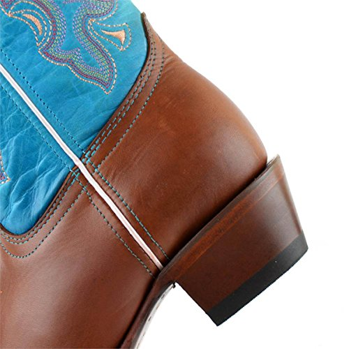 Tan Rodeo Western Cow Leather Genuine Womens Boots cowgirl Turquoise cowboy Hide Zz6gYxq