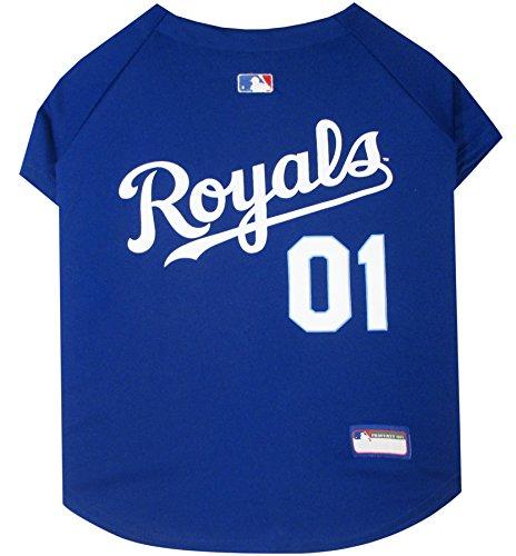 MLB Kansas City Royals Dog Jersey, X-Large. - Pro Team Color Baseball ()