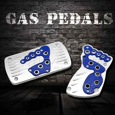 Noviame(TM) Blue Universal Car Pedal Cover Kit Pad Foot Brake Gas Pedals Automatic Car AT C10