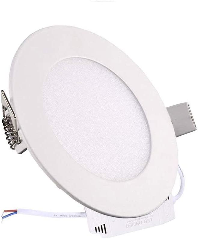 XUNATA Dimmable LED Ceilling Lights, 110V 12W 6 inch Ultra-thin Round LED Panel Light, 850lm, 80W Incandescent Equivalent, 3000K Warm White, LED Recessed Lighting for Home, Office, Commercial Lighting