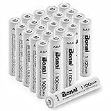 BONAI 1100mAh AAA Rechargeable Batteries 24 Pack 1.2V Ni-MH High-Capacity Batteries - UL Certificate