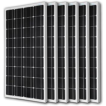 6pcs RENOGY 100 Watt 100w Monocrystalline Photovoltaic PV Solar Panel Module 12V Battery Charging