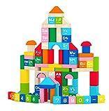 Best Wooden Building Blocks - Joyin 100 Pieces Wooden Stacking Building Blocks Shape Review